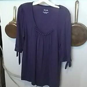 Elle Purple Top  L